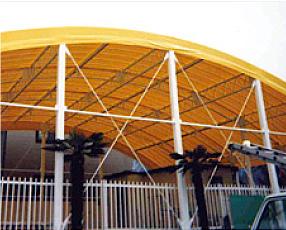 プール屋根テント